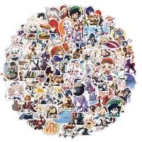 Autocollants de jeu à l'effigie de Genshin Impact, dessin animé, monde ouvert, pour ordinateur portable, moto, Skateboard, étui de voyage, téléphone, 10/100 pièces