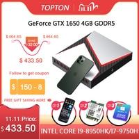 Topton Gaming Mini PC Intel Core i5 i7 i9 Mit Nvidia GTX1650 4G Grafiken Windows 10 Linux Spiel Desktop computer DDR4 NVMe SSD
