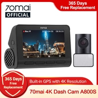 70mai A800S Dash Cam 4K Gebaut-in GPS ADAS Echt 70mai 4K A800 Kamera UHD Kino-qualität Bild 24H Parkplatz 140FOV Unterstützung Hinten Cam