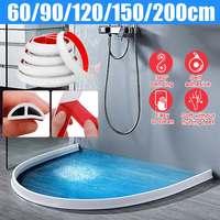 Home Water Retention System Silicone Threshold Water Dam Self-Adhesive Bath Shower Barrier Retainer Seal Strip Bathroom Kitchen