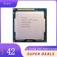 Kostenloser Versand Intel Core i5-3570k 3,4 ghz 4-core Sr0pm 6mb 5,0 gt/s unterstützung DDR3 1333 1600 LGA1155 Verstreut Stück CPU Prozessor