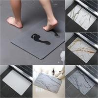 Diatomite Earth Mat Non-slip Bathroom Mat Water Absorbent Bath Mats Entrance Doormat Fast Drying Kitchen Rug Carpet
