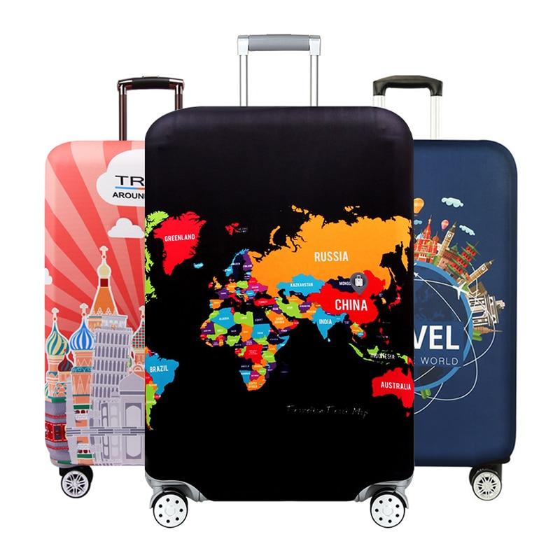 Verdicken Gepäck Schutzhülle Reise Koffer Koffer Elastische Staub Gepäck Abdeckung für 18-32inch Koffer Abdeckungen Reise Zubehör