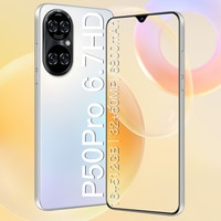 Globale Version P50 Pro 5G Smartphone 6,7 Zoll Qualcomm 888 Smart Telefon Gesicht/Fingerprint Entsperrt Dual Sim Handys android 11,0