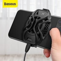 Baseus נייד טלפון קירור Refriger קירור רדיאטור משחקים אוניברסלי טלפון מאוורר מחזיק עבור PUBG נייד משחק טלפון קירור מאוורר