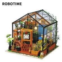 Robotime 소형 인형 집 DIY 인형 집 인형 집 가구, 어린이를위한 가벼운 선물 성인 Kathy's Flower house