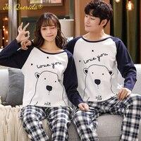 Couple Pyjamas Long Pullover Leisure Home Clothing Fashion Loungewear Men and Woman Autumn Spring Sleepwear Cartoon Pajamas Set