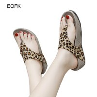 EOFK Women Slippers Summer New Beach Slides Wedges Platform Soft Flip Flops Thick bottom Comfortable Fashion Ladies Footwear