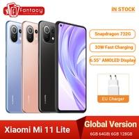 Globale Version Xiaomi Mi 11 Lite Smartphone Snapdragon 732G Octa Core 6GB 128GB 64MP Hinten Kamera 4520mAh NFC
