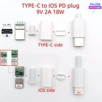 5sets PD18w ugreen MFI USB C zu IOS lade MacBook PD kabel schnelle USB C lade schweißen 9V 2A 18W 8 pin