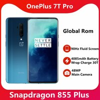 Original Globale Rom OnePlus 7T Pro Snapdragon 855 Plus 6.67 ''Flüssigkeit AMOLED 90Hz Aktualisieren Rate Bildschirm 48MP triple Cam 4085mAh