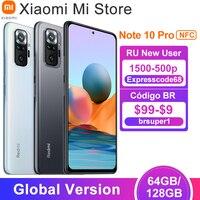 In Lager Globale Version Xiaomi Redmi Hinweis 10 Pro Smartphone 64/128GB Snapdragon 732G Octa Core 108MP quad Kamera 5020mAh Batterie