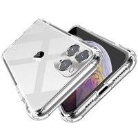 IPhone用耐衝撃シリコンケース,iPhone 11 x xr xs max 12 11 pro max 8 7 6s plus SE用クリアショックプルーフケース