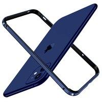 バンパーケースiphone 11プロマックス高級シリコン金属アルミiphone 12 × r xs xr 7 8プラスse 2020電話アクセサリー