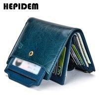 HEPIDEM RFID אמיתי עור ארנקים נשים 2020 חדש יוקרה מותג מעצב באיכות גבוהה כרטיס מחזיק ארנק עם רוכסן 3523