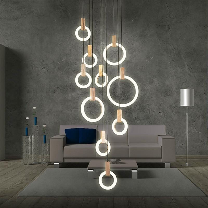 Moderne Led Kreis Große Kronleuchter Wohnzimmer Kunst Deco Restaurant Hängen Beleuchtung Für Hotel Lobby Büro Ringe Lampe Lustre