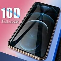 10dフル接着剤保護glas appleのiphone12私はphone12 iphone 12プロマックスミニガラススクリーンプロテクターaifon 12pro 12ミニフィルム