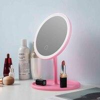LED 미러 메이크업 드레싱 테이블 미니 거울 전구 조명 스위치 드레싱 테이블 거울 메이크업 액세서리 선물