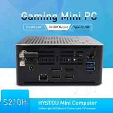 Neueste HYSTOU Mini PC Intel i9 10980HK i9 10880H 2 * DDR4 2 * M.2 PCIE + 1*2.5
