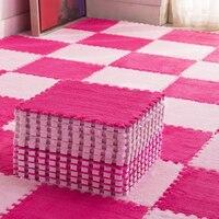 4/6/8/10/12Pcs Plush Kids Rugs Puzzle Play Mats for Baby Toddler Eva Foam Infant Developing Mat Washable Splicing Carpet Tapis