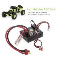 Receptor 3 em 1 esc servo para carro buggy de 1/12 wltoys 12428 rc