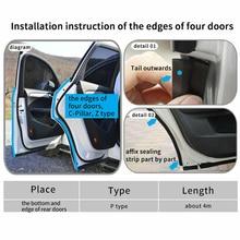 Kit de molduras para borda da porta, acessórios duráveis, molduras de caminhão tipo z, tira de borracha oca