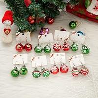 2021 חדש אופנה חג המולד עגילי Creative חג המולד הנורה זרוק עגיל לנשים מתנה לחג המולד צבעוני כדור להתנדנד עגילים