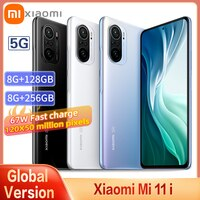 Original Xiaomi Mi 11i 5G NFC Smartphone 8GB + 128GB ROM Snapdragon 888 Octa Core 108MP Kamera 120Hz AMOLED Display Handy