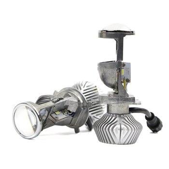 H4 Mini Bi-LED Projector 1 5 inch Headlight Lens 70W Headlamp
