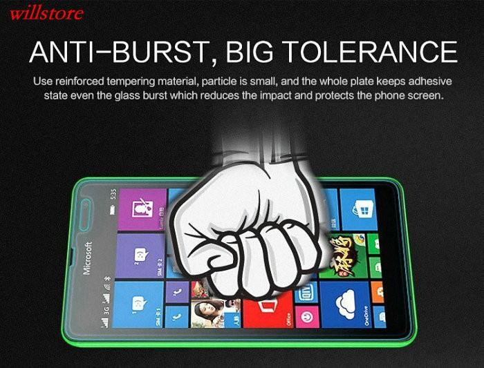 Szkło hartowane Screen Protector for Microsoft Nokia Lumia 430 435 532 540 550 640 XL 650 1020 1320 1520 950 X X2 XL SZKŁA Film 3