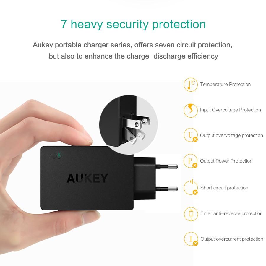 Aukey uniwersalny 4 porty usb ładowarka podróżna ładowarka ścienna adapter do iphone7 samsung s6 smart phones/pc/mp3 i usb urządzeń mobilnych 9