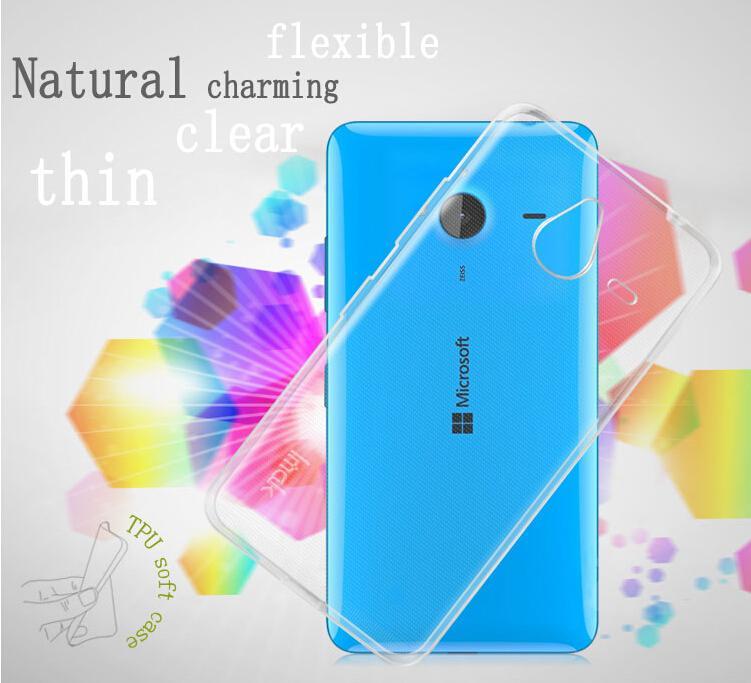 Dla microsoft lumia 535 532 435 640 640xl case cover, 0.6mm tpu case super slim miękkie back case etui na telefony 14
