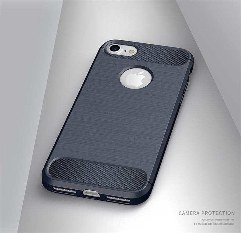 Luksusowe wstrząsoodporny telefon case for iphone 7 7 plus 6 6 s plus 5 5S se case new carbon fiber miękka tpu rysunek phone case back cover 12