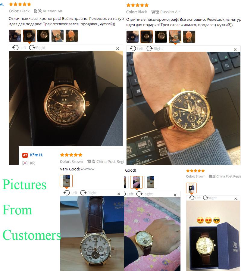 Kinyued Skeleton Watch Mężczyźni Automatyczna Wodoodporna Top Marka Męskie Zegarki Mechaniczne Skóry Kalendarza Złota Róża Relógio Masculino 17