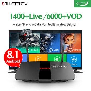IPTV France Arabic TV Receivers TV Box Android 8 1 IPTV 1 Year QHDTV