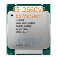 E5-2660V3 Original Intel Xeon ES Version E5-2660 V3 2,4 GHz max 2,7G 25M 10-KERNE E5 2660V3 LGA2011-3 105W kostenloser versand
