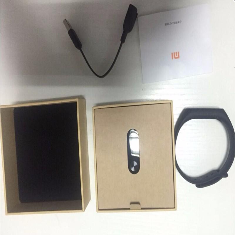 Oryginalny xiaomi mi kompania 2 miband bransoletka wistband inteligentnego tętno fitness ekran oled wyświetlacz dla iphone 7 touchpad bluetooth 35