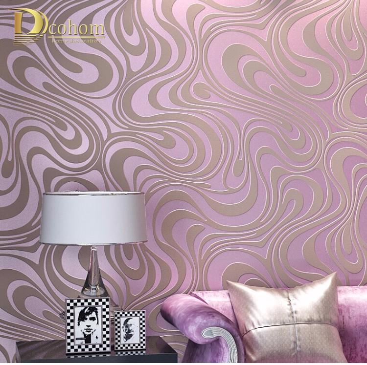 Wysokiej jakości 0.7 m * 8.4 m nowoczesny luksus 3d tapety rolki mural papel de parede uciekają na paski ściany papier 5 kolor r136 27