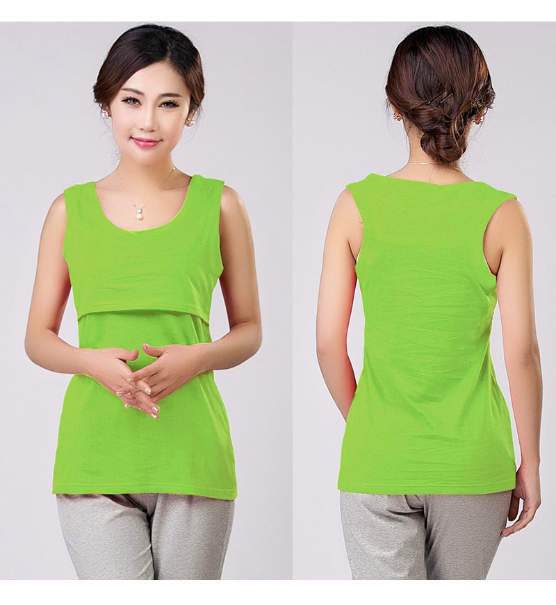 2016 Lato Bawełna Nursing Tank Karmienie Karmienie Piersią Bluzki Ubrania Macierzyństwa Kobiety W Ciąży Moda Matki T-shirt Plus Size 15