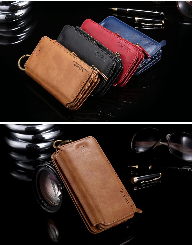 Floveme retro skóra telefon case do samsung galaxy note 3 4 5/s7/s6 edge plus metalowy pierścień coque karty portfel ochronne pokrywa 14