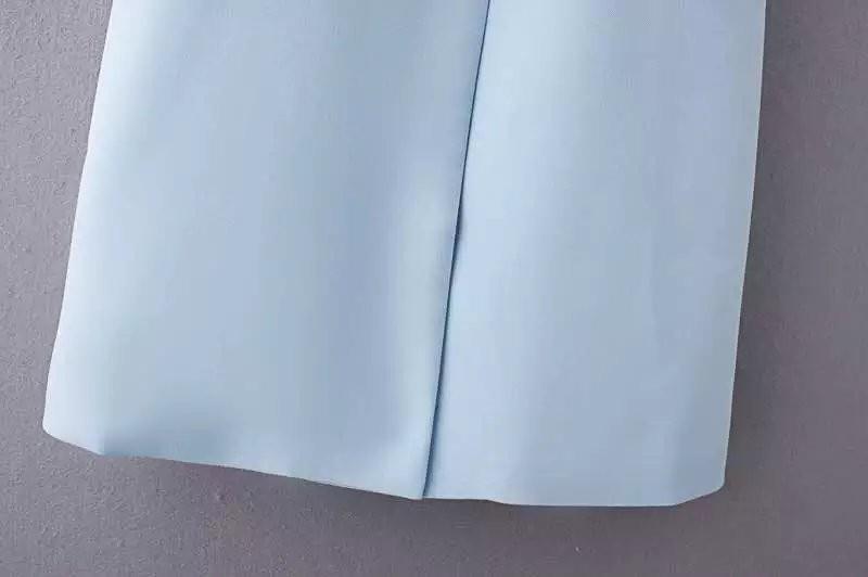 2017 wiosna nowy mody długie kieszenie turn-dół collar otwórz stitch pantone niebieski różowy beżowy czarny żakiet kamizelka bez rękawów kurtki 38