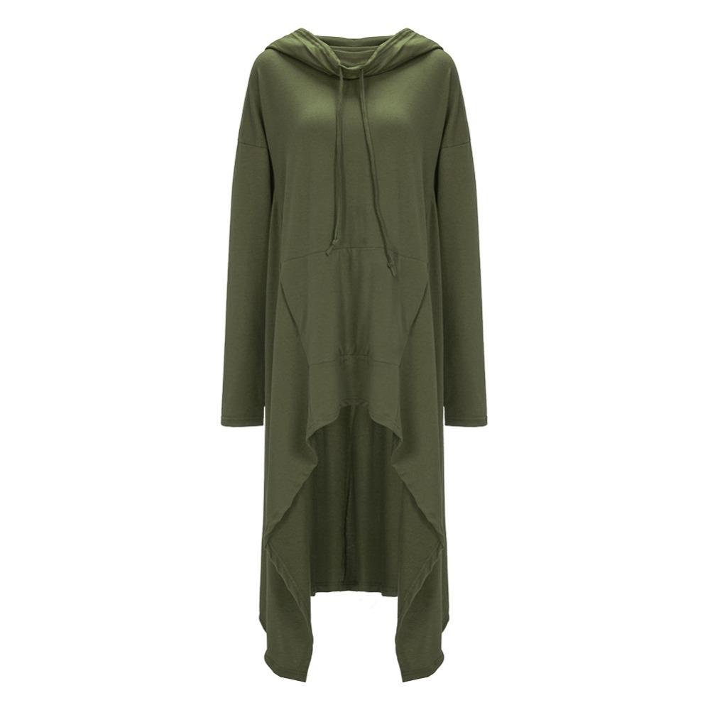 Preself Oversize Sweter Z Kapturem Bluza Kobiety Hoody Blaty Kobiet Luźna Z Długim Rękawem Płaszcz Z Kapturem Na Co Dzień Znosić Pokrywa Swetry Ubrania 10