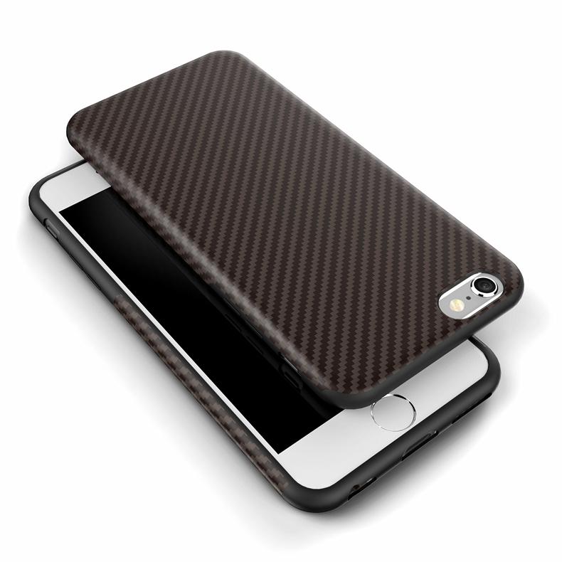Najnowszy środowiska carbon fiber case dla iphone 6 6s plus miękkie antypoślizgowa anti-puk pokrywy dla iphone 7/plus skóra skóra torba 23