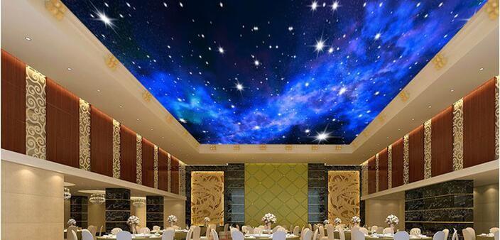 Niestandardowe zdjęcia tapety KTV 3D 5-gwiazdkowych Hoteli sen salon sypialnia sufit jasny sufit gwiazdy papier fototapetę malarstwo ścienne 9