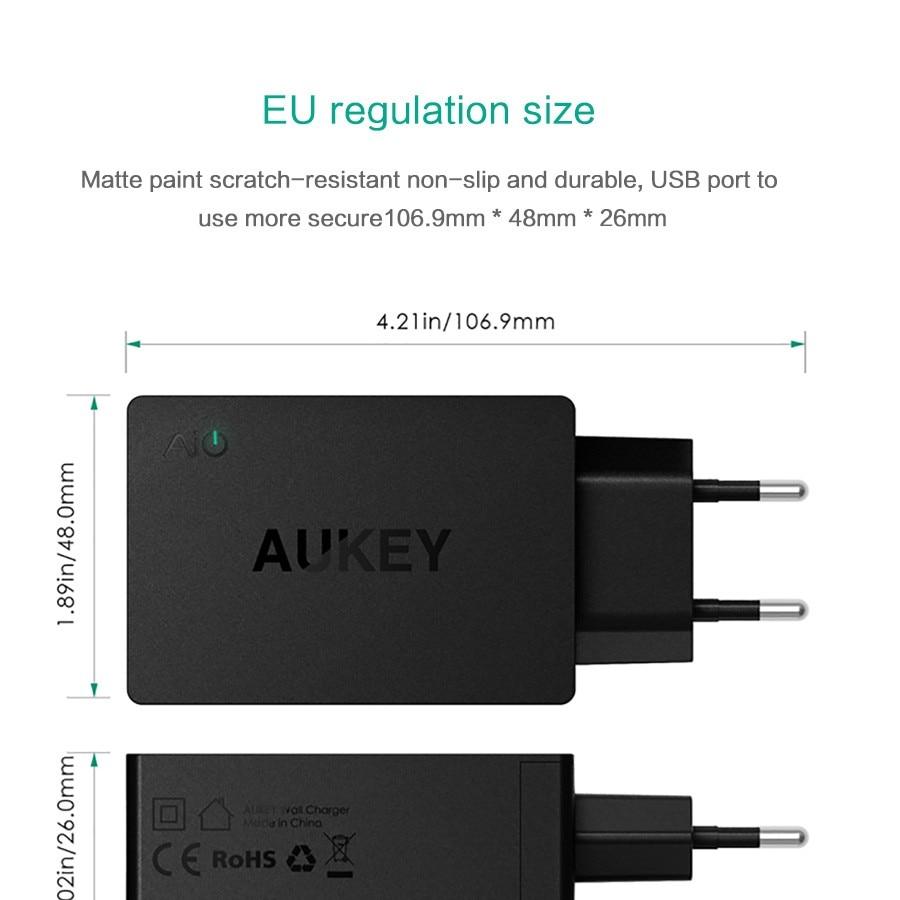 Aukey 5v6a uniwersalna ładowarka podróżna usb adapter ue wtyczką amerykańską ściany inteligentna ładowarka do telefonu komórkowego iphone tablet xiaomi red htc sony 12