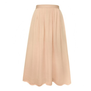 dbece3f845 2017 Woman Satin Long Skirt Elastic Waist Floor-Length Maxi Skirts ...
