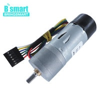 Codificador para motor de engrenagem bringsmart, mini motor elétrico de engrenagem com 12 volts, codificador fechado
