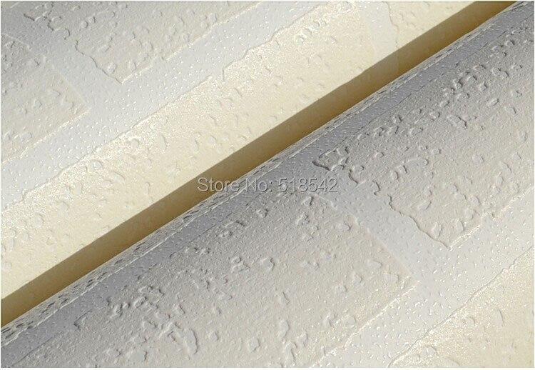 Nowoczesne 3D Cegły Off Biała Piana Grube Tłoczone Winylu oblicowywanie Ścian Ściany Rolki Papieru Tle Ściany salon Sypialnia Tapety 10