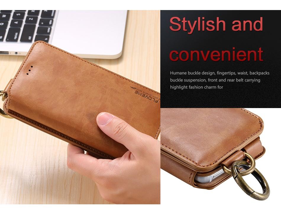 Floveme retro skóra telefon case do samsung galaxy note 3 4 5/s7/s6 edge plus metalowy pierścień coque karty portfel ochronne pokrywa 5