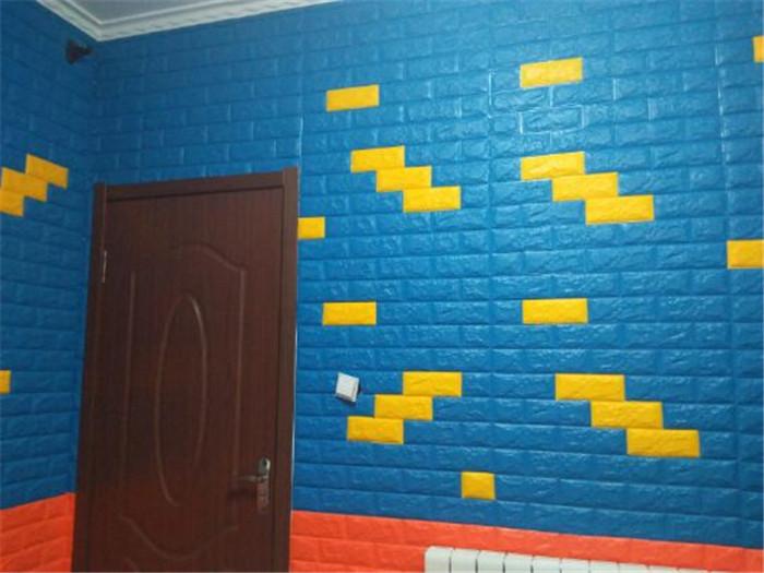 PCV 3D salon mur ceglany wzór tapety stickie dormitorium sypialnia retro wzór tapety adhesive392-F cegły 38